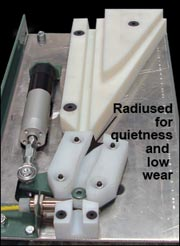 Radiused for quietness and low wear