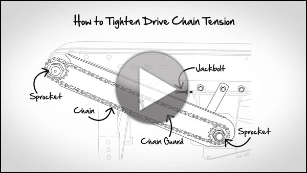 Ask Hytrol: How To Tighten Drive Chain Tension